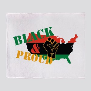 Black & Proud Throw Blanket